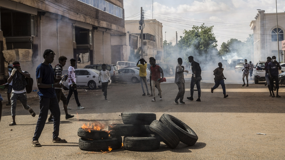 Sudanese protest a year after power-sharing deal with army