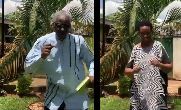 Security Min. Gen. Tumwine, Wife Break Internet With Rare Dancing Strokes