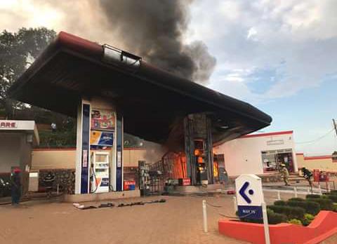 Moka Fuel Station at Mpala, Entebbe Road Catches Fire