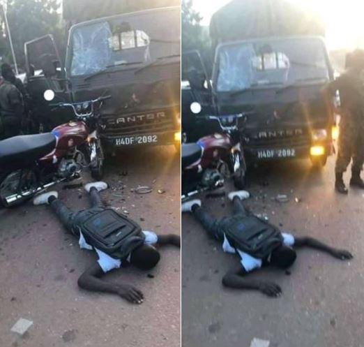 UPDF Driver Knocks Boda-boda Rider Dead