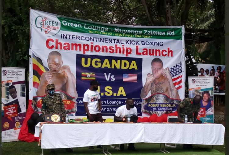 UDF Kickboxer Tugume Vows  To Knockout American Robert In Intercontinental Fight