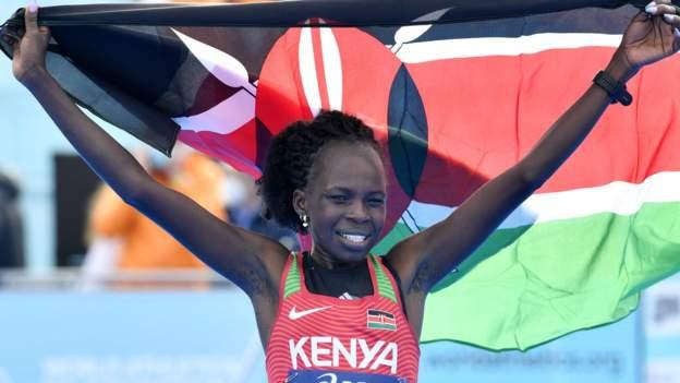 Joshua Cheptegei beaten; World half Marathon Championships Produce World Record