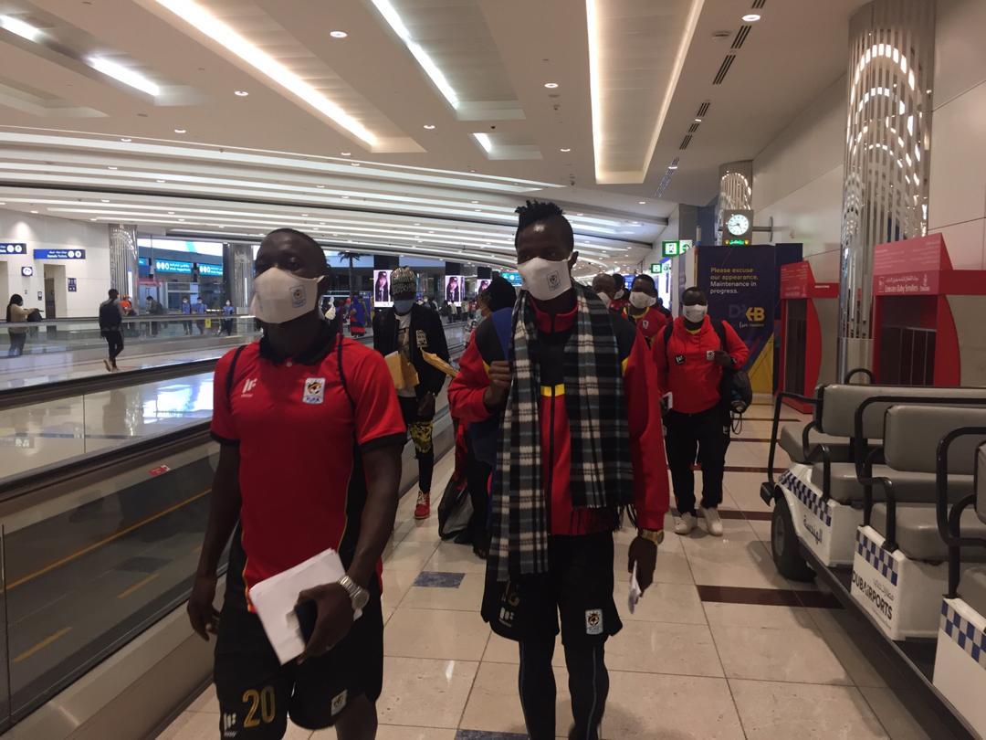 Uganda Cranes Contingent from Uganda Safely Arrives in Dubai