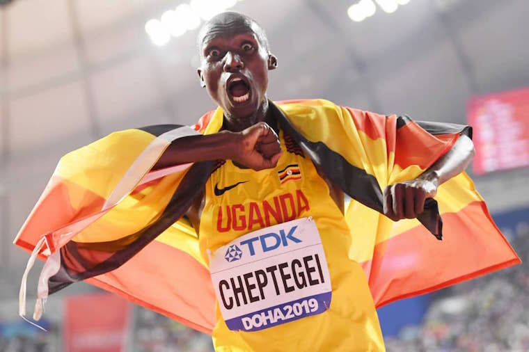 UGANDAN CHEPTEGEI DEMOLISHES MEN'S 10,000 METRES WORLD RECORD