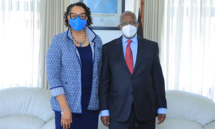 Min. Kutesa Receives U.S Ambassador Brown's Diplomatic Credentials