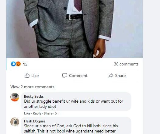 I don't think someone who only cares about his family can be a good leader – pastor Bugingo