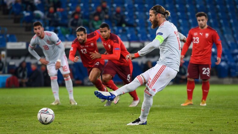 Sergio Ramos Misses Two Penalties in UEFA Nations League, Spain Held to 1-1 Draw by Switzerland