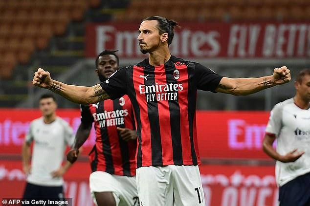 Milan star forward Zlatan Ibrahimovic shrugs off positive COVID-19 test