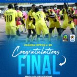 UGANDA INTO THE AFCON U20 FINALS AFTER 4-1 WIN AGAINST TUNISIA