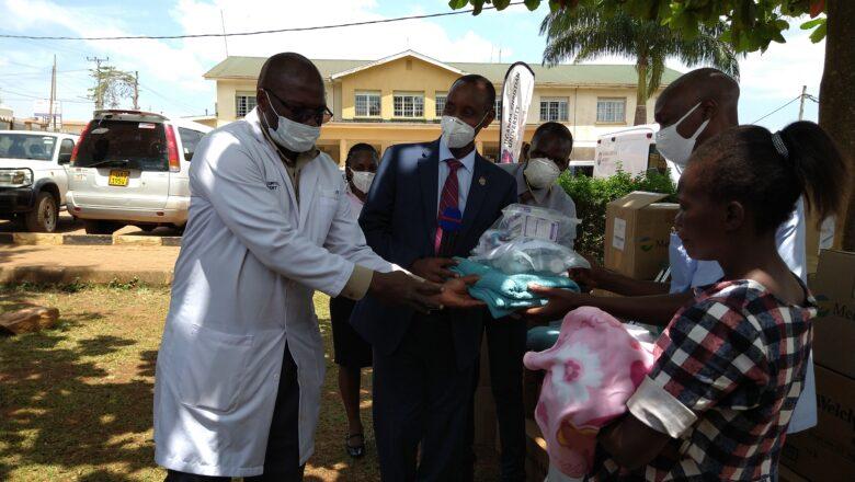 UCU donates medical supplies to Mukono hospital