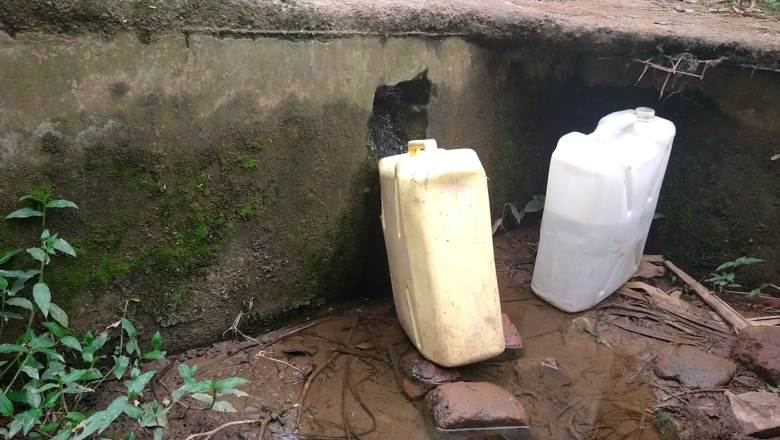 water crisis hits  Mukono as people use the contaminated water for drinking, bathing and other domestic needs.