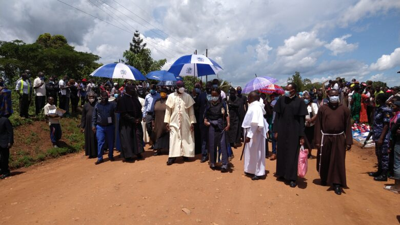 Cyprian Kizito Lwanga's body prayed for his ancestral village, mourners denied to view the body.