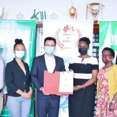 Kampala International University signs MoU with Huawei Uganda to establish an ICT Academy.