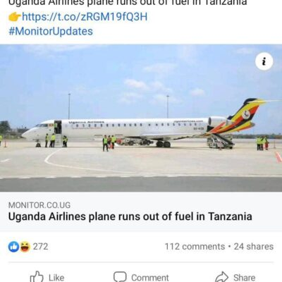 New Ugandan Bombardier Stuck In Tanzania Due Lack of Fuel