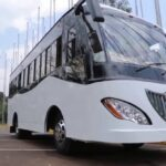 Metu Bus Company Shows Sample Buses To the President