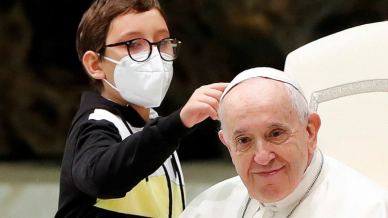 Pope Francis shared a tender moment with a mentally disabled boy